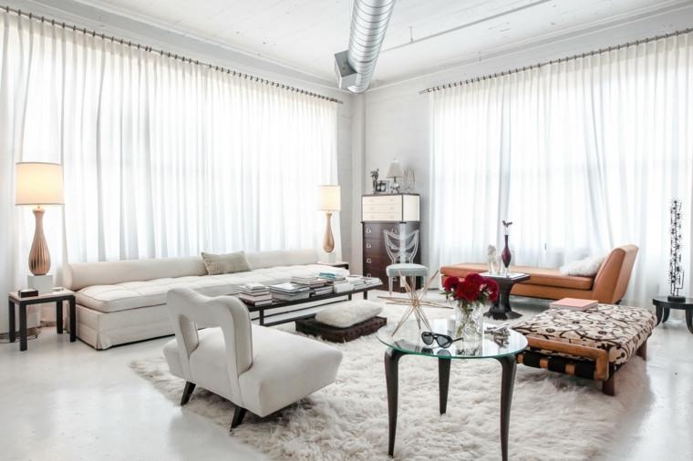 salón boho chic-muebles-modernos