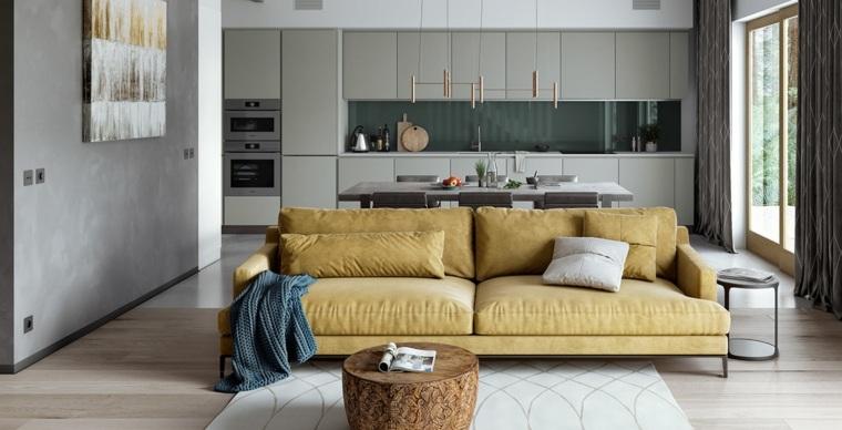 salon-cocina-espacio-abierto-dofa-amarilla