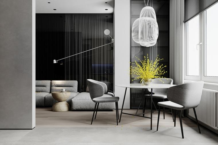 Mesas de diseño con encimera de mármol para el comedor moderno