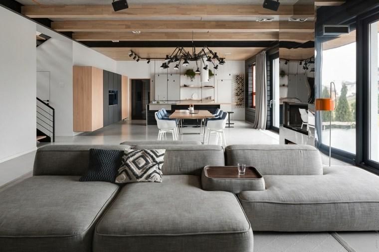 Sala de estar moderna – Que hacer para que la sala parezca más grande