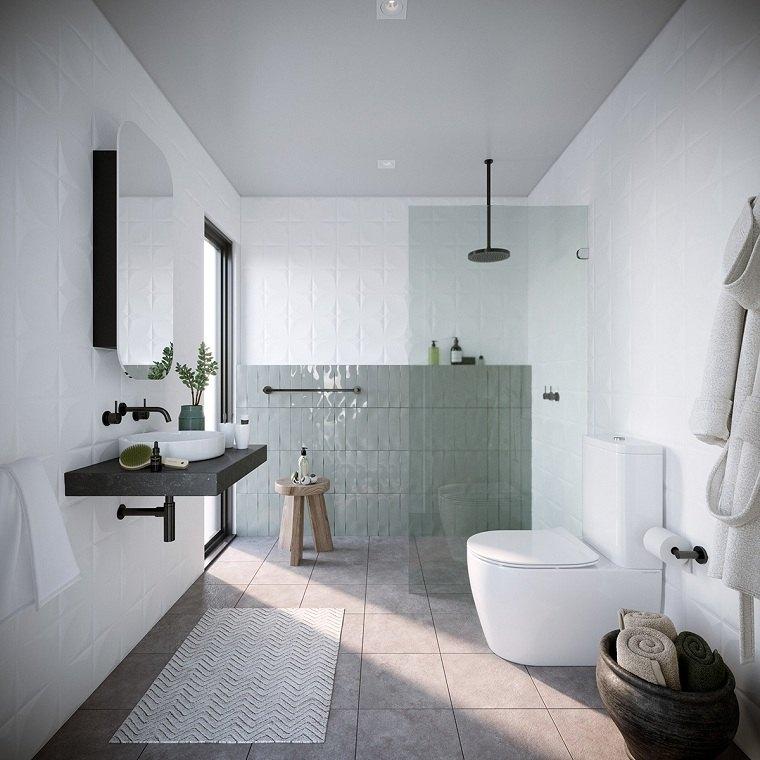 Baño de color moderno ¿Qué esta de moda en el baño en 2020?