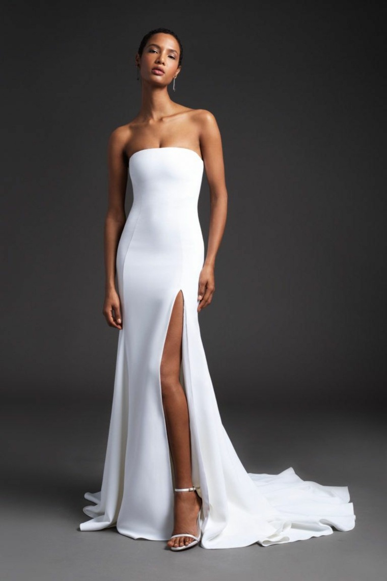 Vestidos de novia 2020-estilo-simple