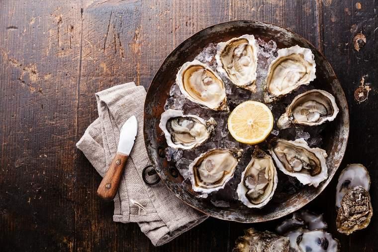 Alimentos ricos en zinc moluscos