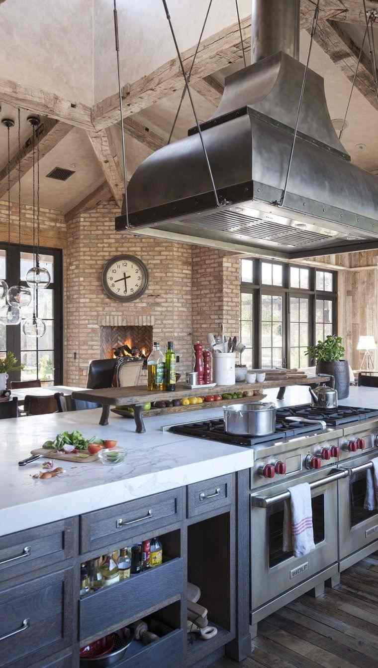 Cocina ecléctica-color-gris