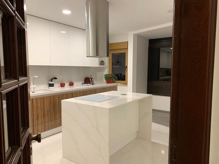 cocinas 3D-isla-proyecto-cosentino