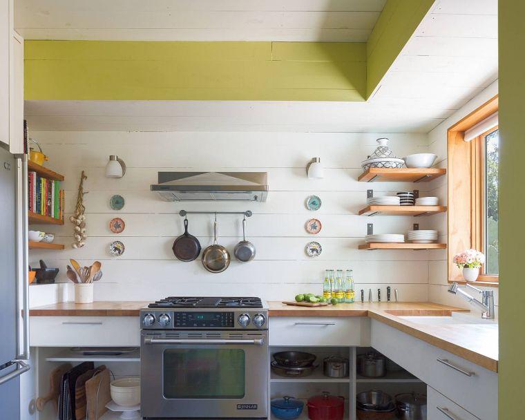 cocinas pequeñas estilo eclectico