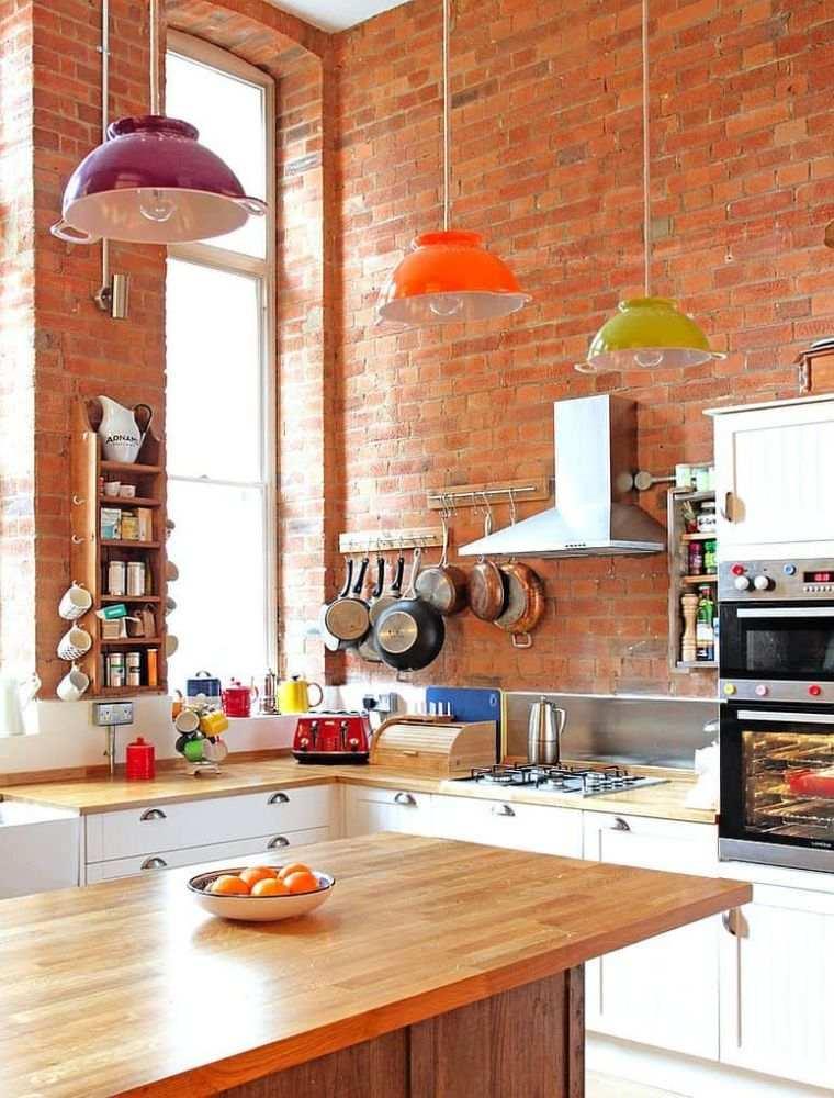 cocinas pequeñas lamparas