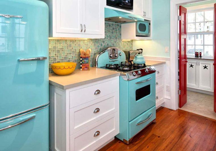 cocinas pequeñas pisos madera