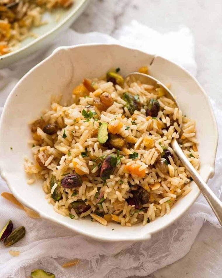 comidas fáciles arroz almendras