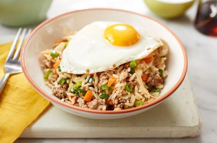 comidas fáciles arroz frito