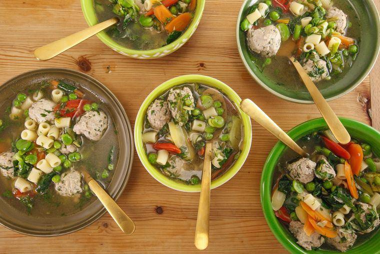 comidas fáciles minestrones