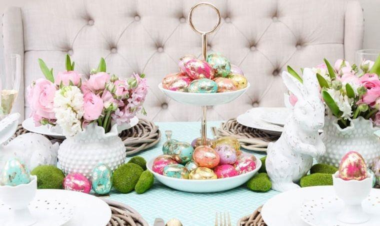 decoración de pascua camino mesa