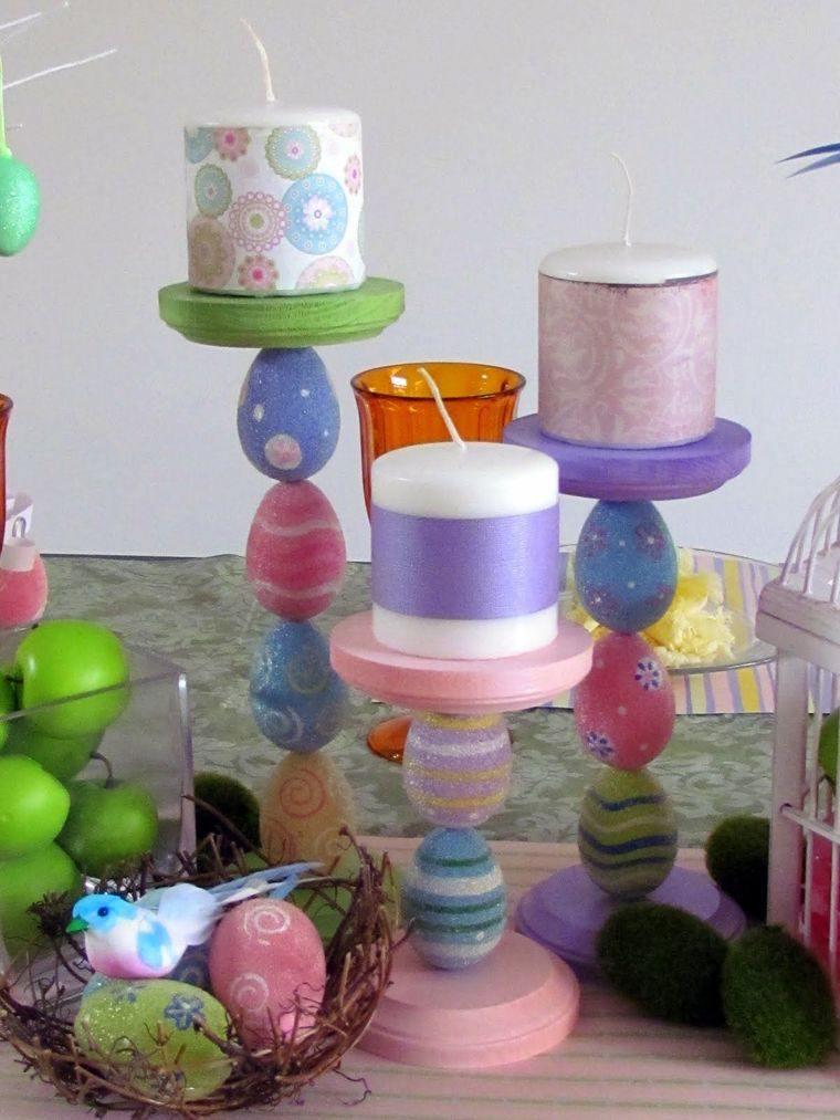 decoración de pascua candelabros