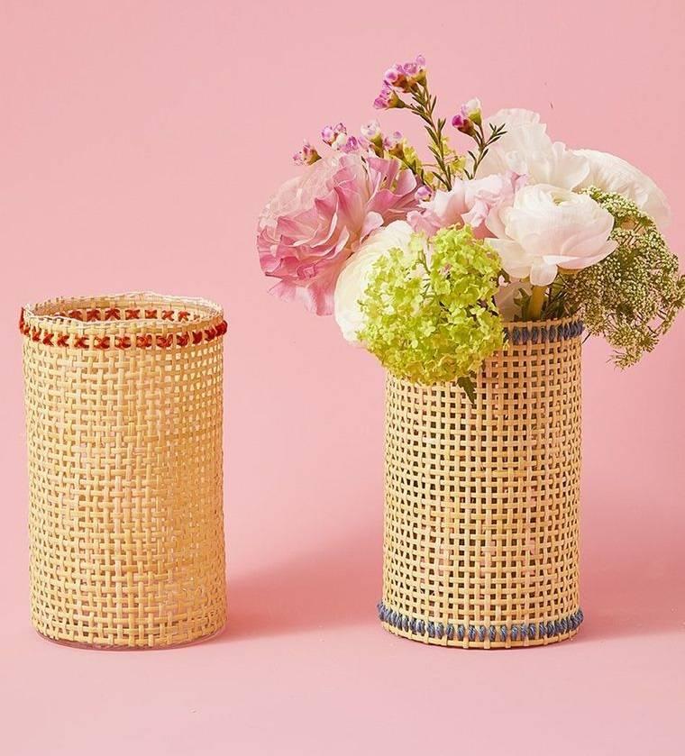 decoración de pascua floreros