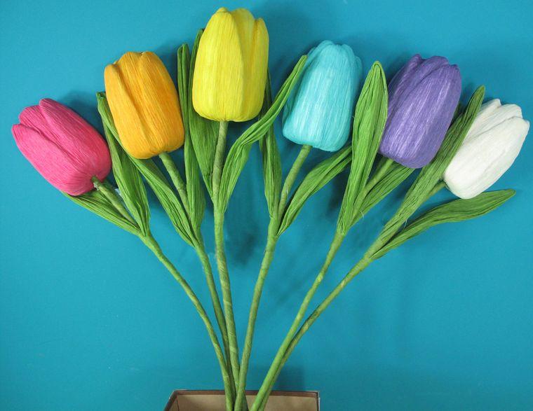 decoración de pascua flores papel