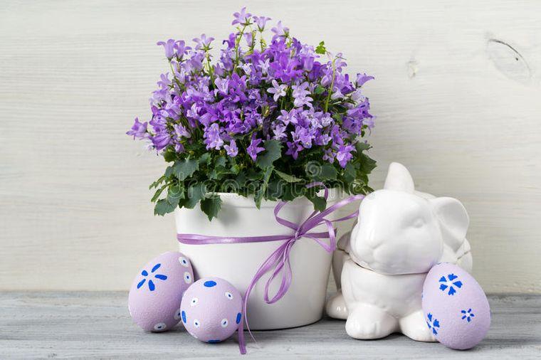 decoración de pascua flores