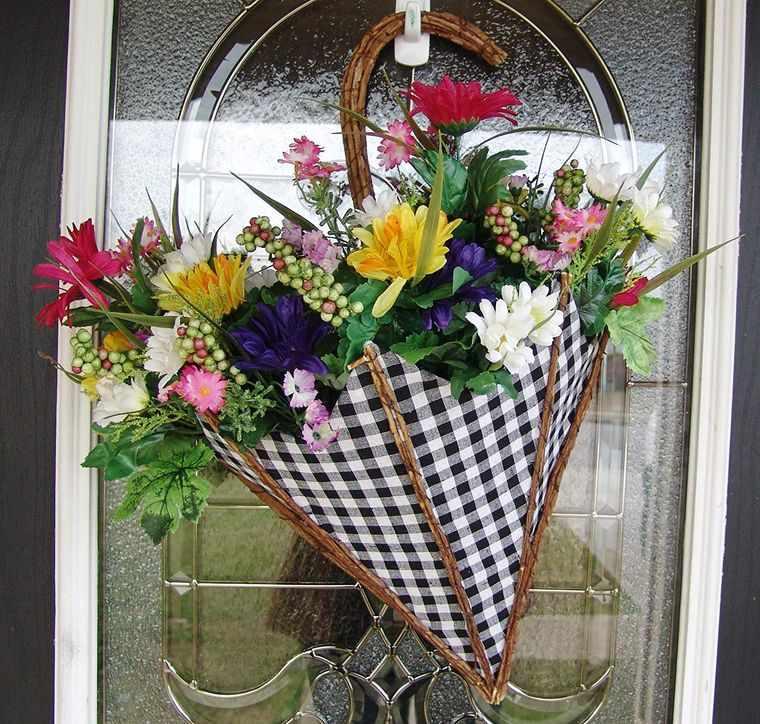 decoración de pascua paraguas