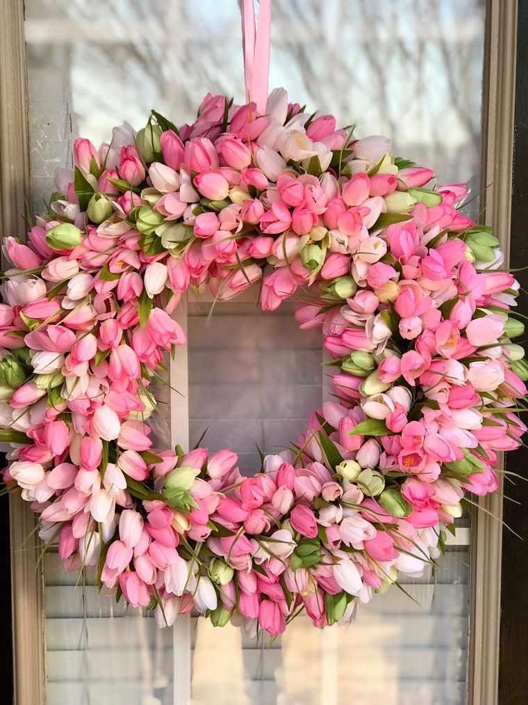 decoración de pascua tulipan