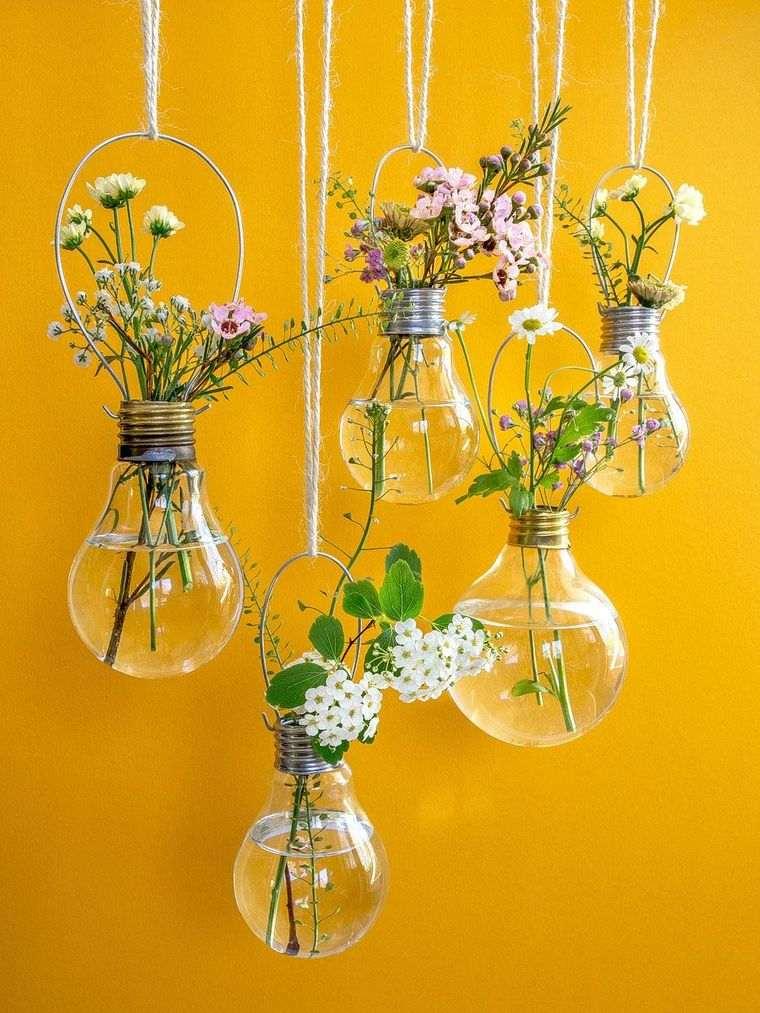 decoración primavera bombillos