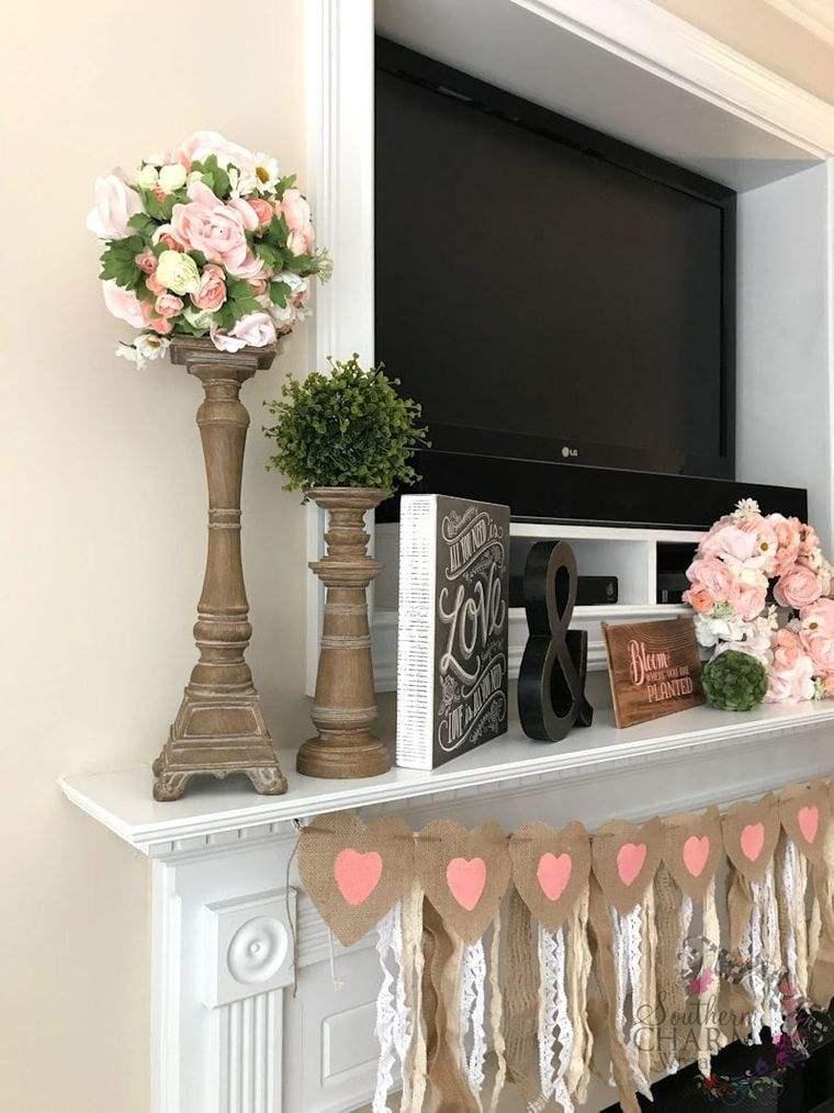 decoración primavera candelabro