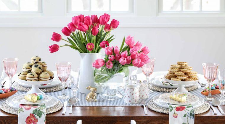 decoración primavera centro