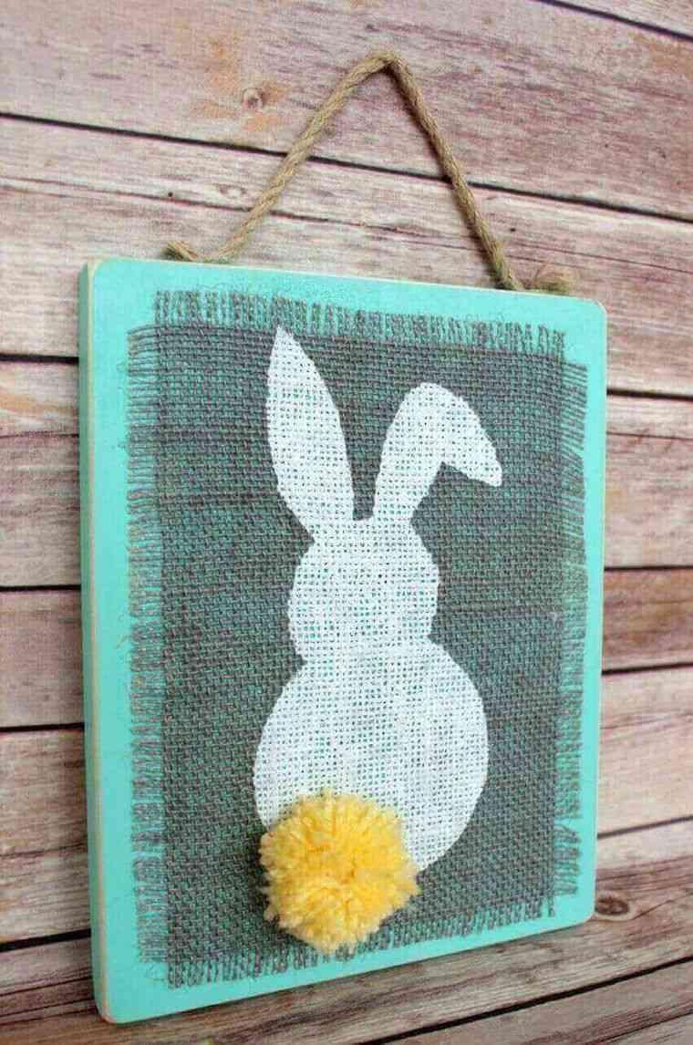 decoración primavera conejito sencillo