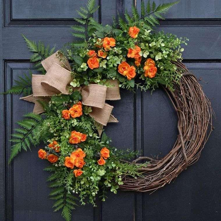 decoración primavera corona