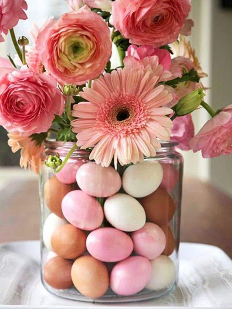 decoración primavera huevos