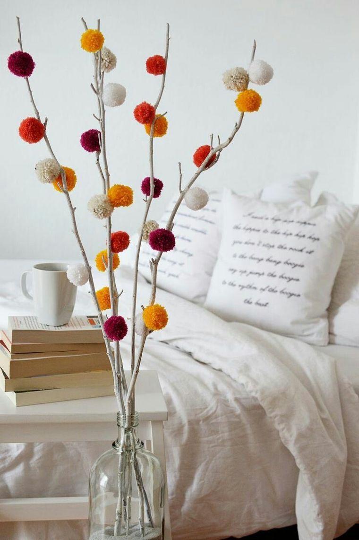 decoración primavera pompon