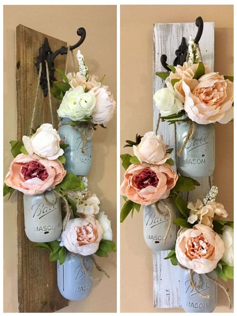 decoración primavera tarros mason