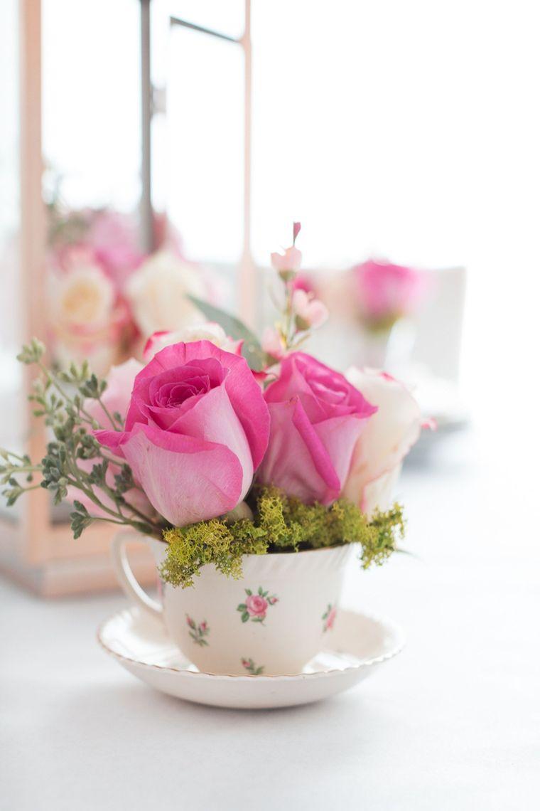 decoración primavera taza te