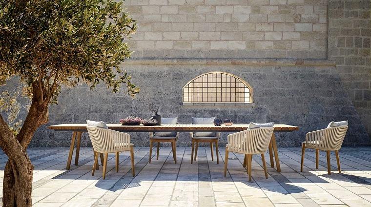 Diseño de jardines fotos estilo-comedor
