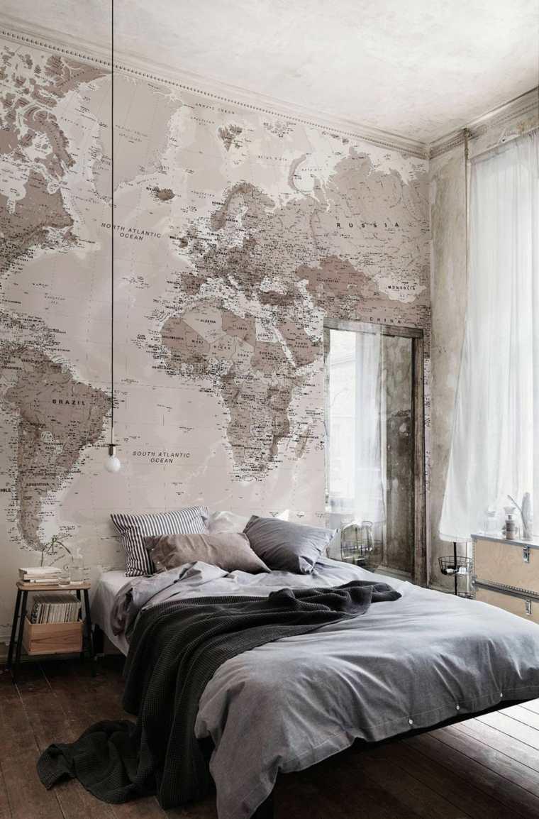 diseno-dormitorio-mapa-mundo-pared