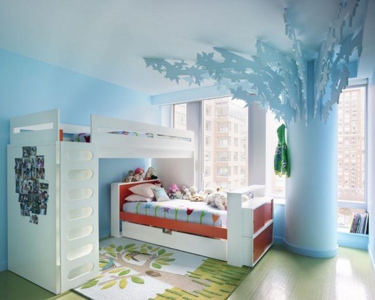 dormitorios infantiles azul