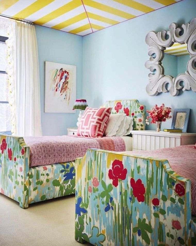 dormitorios infantiles florales