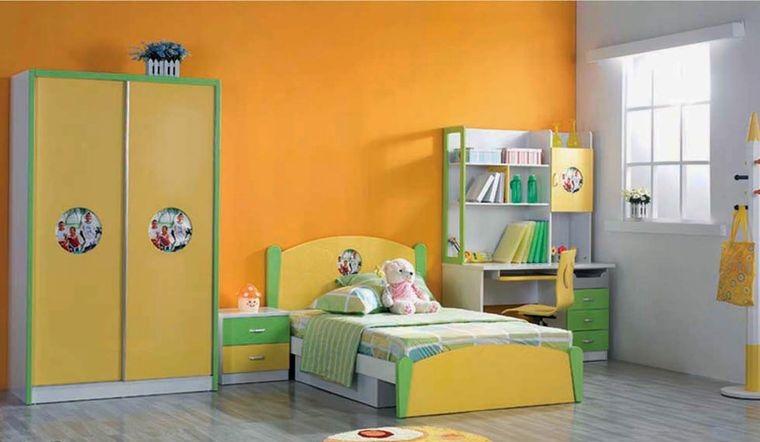dormitorios infantiles naranja