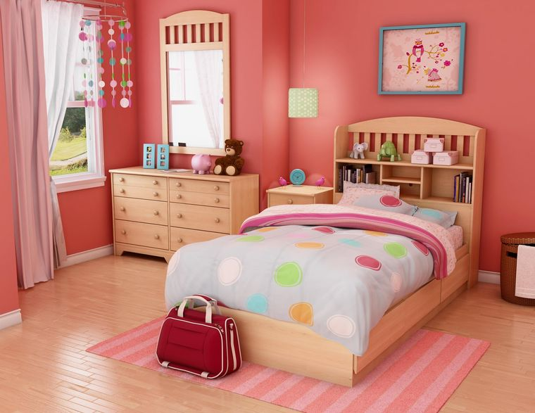 dormitorios infantiles rosa