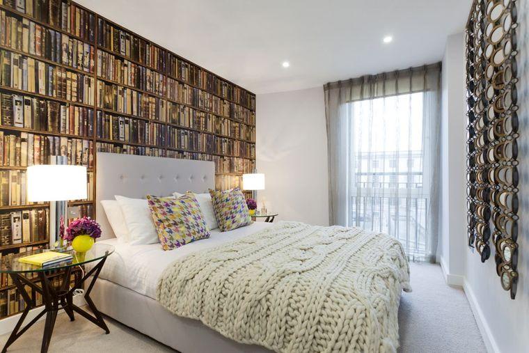 dormitorios papel pintado