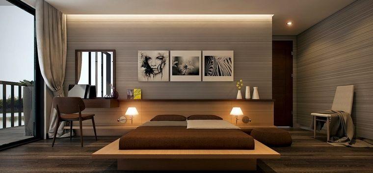 dormitorios pared revestimiento