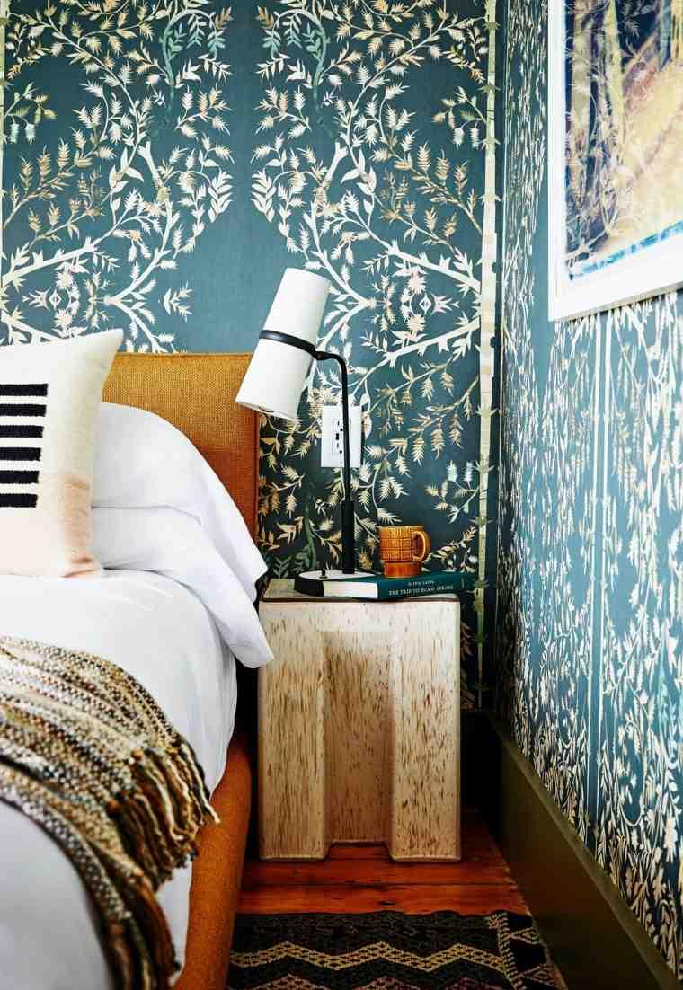 estilo-cama-papel-pared-ideas-originales