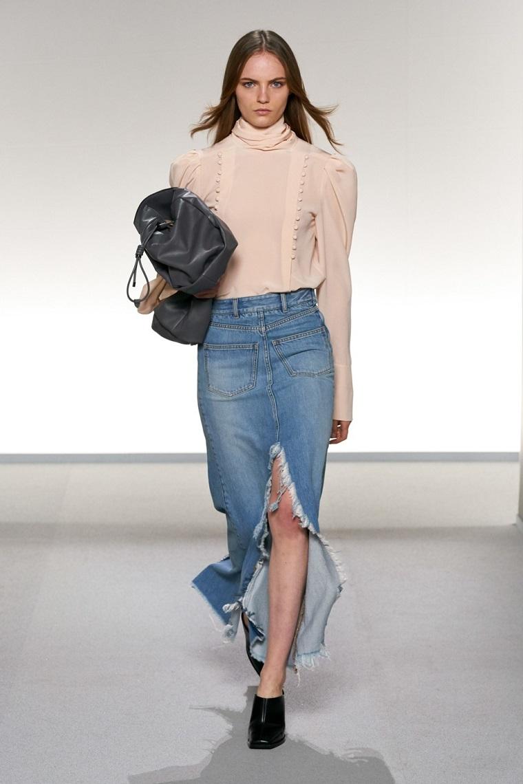 faldas-de-moda-2020-denim-Givenchy-diseno