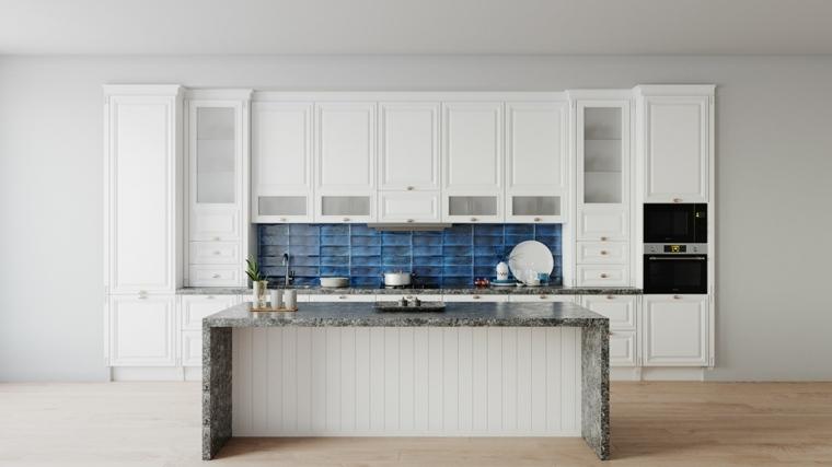 ideas-de-cocinas-losas-azules-salpicadero