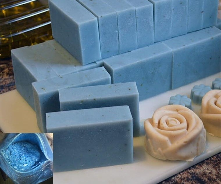 jabón casero azules