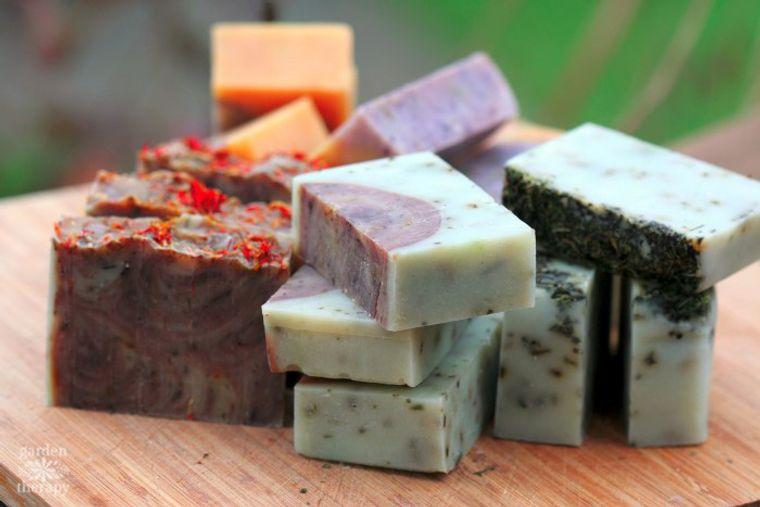 jabón casero fresco