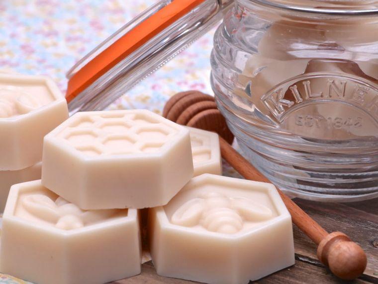 jabón casero leche miel