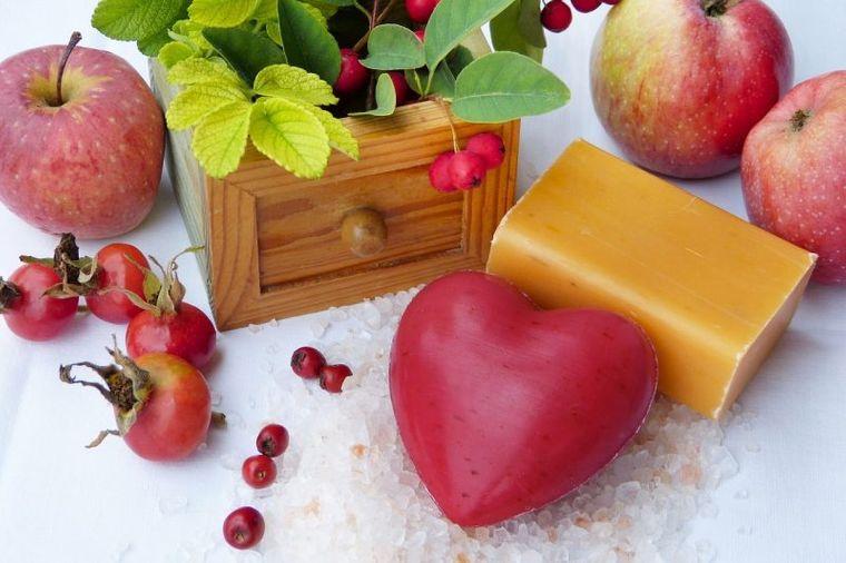 jabón casero manzana