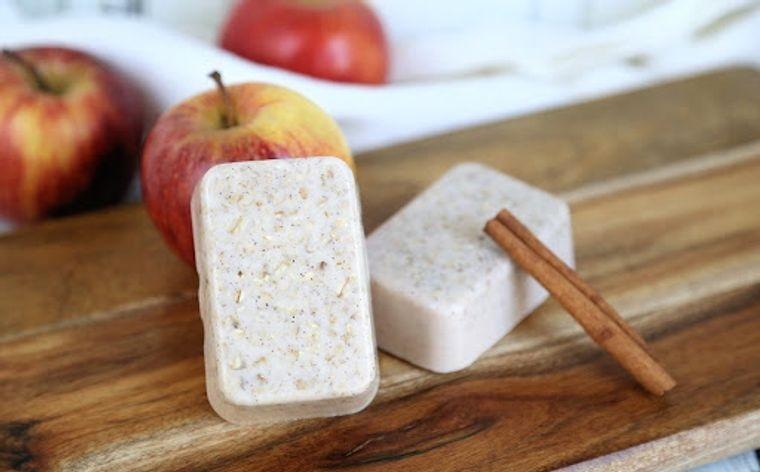 jabón casero manzanas canela