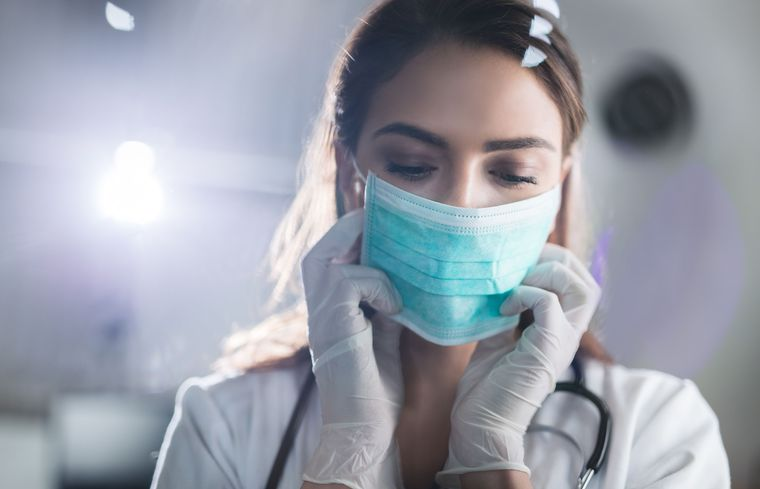 máscara protectora cuidado