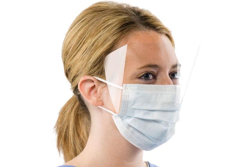 máscara protectora plastico