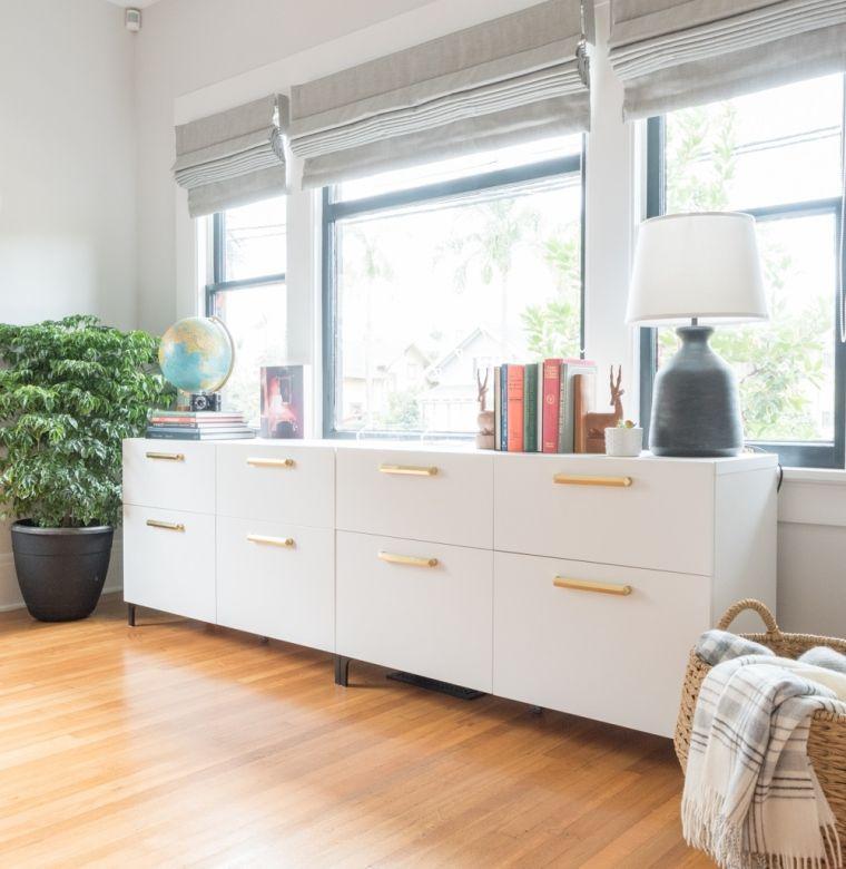 muebles de ikea blanco dorado